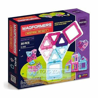Magformers Inspire 3D Set 30 Pieces Educational Shapes 3D Brain Development Magn