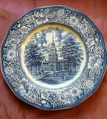 Assiette Liberty Blue INDEPENDENCE HALL Staffordshire 25cm
