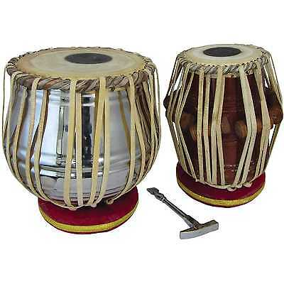 Pair of Atlas Tabla Drums w. Cushions, Hammer & Carry Bag - NEW, SHIPPED FROM UK