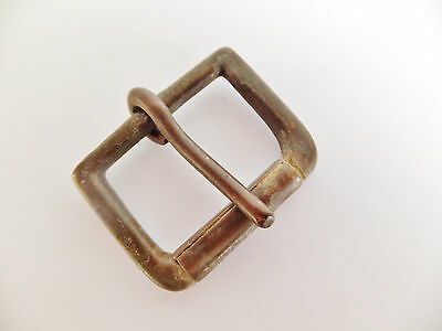 "ANTIQUE FINISH Solid Brass SINGLE ROLLER BELT BUCKLE Leathercraft 1-1/4"" - 32 mm"