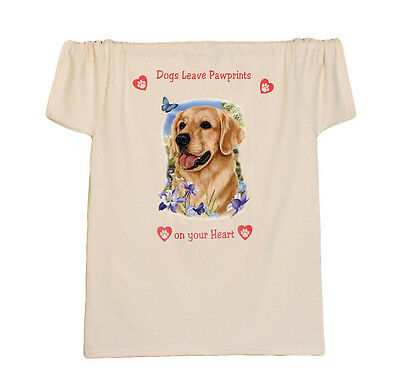 GOLDEN RETRIEVER new T SHIRT Dogs Leave Paw prints on your Heart
