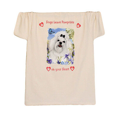 MALTESE new T SHIRT Dogs Leave Paw prints on your Heart