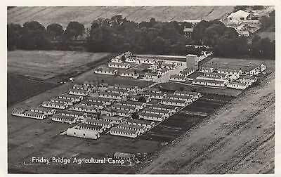 Friday Bridge Agricultural Camp, Wisbech, Cambs, old postcard