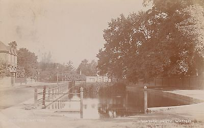The Pond, Watford, Herts, Real photo, old postcard