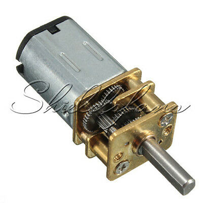 DC 6V 30RPM Micro Speed Gear Motor Reduction with Metal Gearbox Wheel Shaft