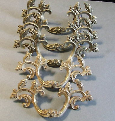 Set Of 5 Brass Antique Vintage Drawer Pulls 3 Large 2 Small  Matching (Dp13)