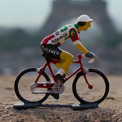 1987 7-Eleven Cycling Figurine - Hand painted in France