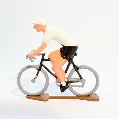 TDF White Jersey Cycling Figurine - Hand painted in France