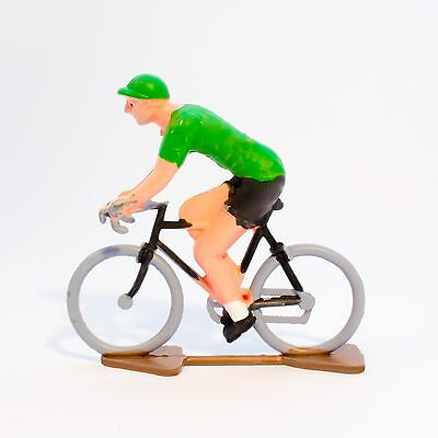 TDF Green Jersey Cycling Figurine - Hand painted in France