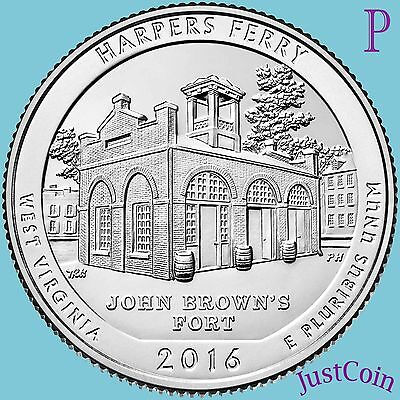 2016-P Harpers Ferry National Historical Park (Wv) Quarters Uncirculated
