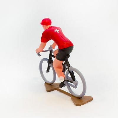 Swiss Cycling Figurine - Hand painted in France