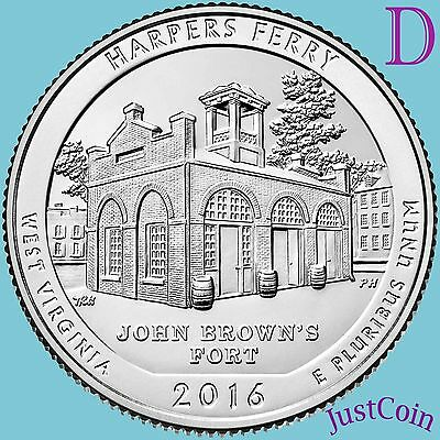 2016-D Harpers Ferry National Historical Park (Wv) Quarters Uncirculated