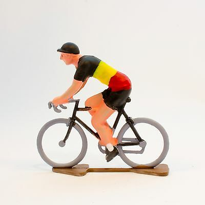Belgium Cycling Figurine - Hand painted in France