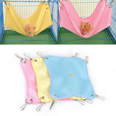 Bed Net Cloth House Cage Hanging Hammock Mat Rat Ferret Hamster Mouse Pet Toys