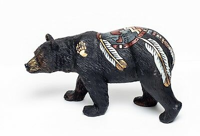 Bear with Feathers and Bear Paw Figurine Bear Country Statue Bcbff