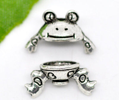 10 Sets Silver HOTSELL Tone Animal Charm Bead Caps Set 15x9mm