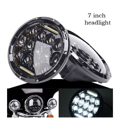 1x Motorcycle Black Projector Daymaker H-ID LED Light Bulb Headlight for Harley