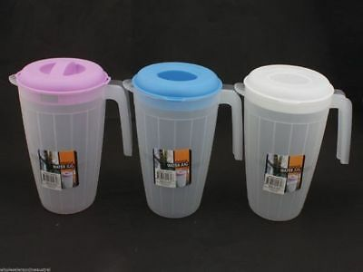 6 x Jugs Frosted 1.9L Premier range Col Lids Home Bar Accessory Wholesale lot