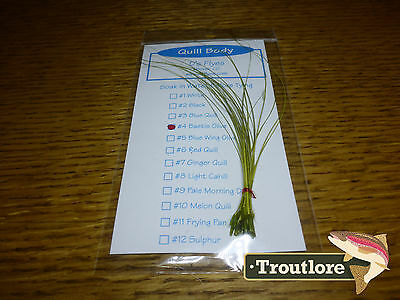 Quill Body Pack Baetis Olive Qb4 Stripped Quills - New Fly Tying Material