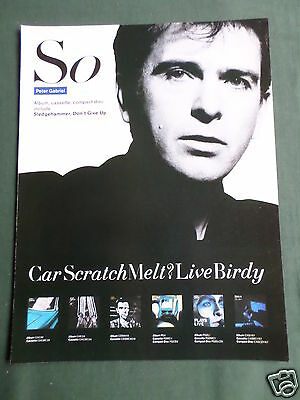 Peter Gabriel - Magazine Clipping / Cutting- 1 Page Advert
