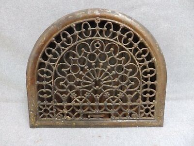 Antique Cast Iron Arch Top Dome Heat Grate Wall Register Old Vintage 581-16