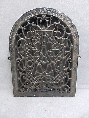 Large Antique Cast Iron Arch Top Dome Heat Grate Wall Register Old Vtg 582-16