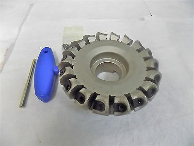 """Iscar 3103876 5.470"""" Cut Dia 18FL 45º Indexible Chamfer & Angle Face Mill"""