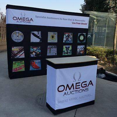 10ft Pop Up Booth Display Trade Show Backdrop Wall Stand with Custom Graphi Pint