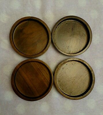 Wood Coasters Wooden 4 Pcs Stackable Beverage Holder Table Water