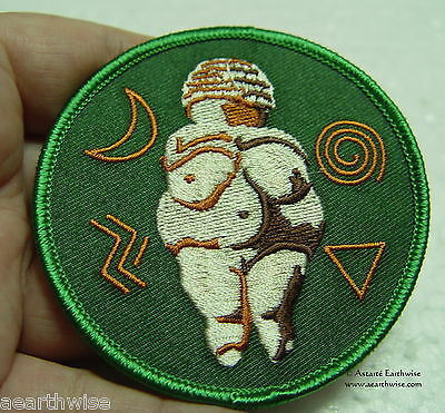 VENUS OF WILLENDORF IRON ON CLOTHING PATCH - Wicca Witch Pagan Goddess Goth