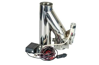 """3"""" 76mm Exhaust Downpipe Testpipe Catback Electric Cutout kit with Remote 3inch"""