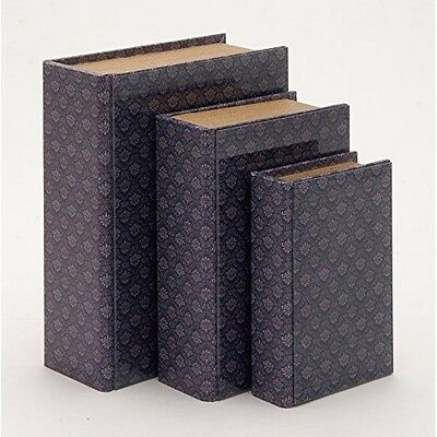 Benzara 62650 Adorable And Multipurpose Wooden And Glass Book Box Set of 3 NEW