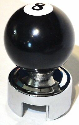 gear shift knob kit 8 ball white/black Peterbilt Kenworth Freightliner 13/18