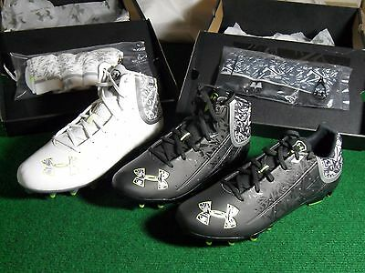 New Mens Under Armour Banshee Low & Mid MC Lacrosse Football cleats Free Socks