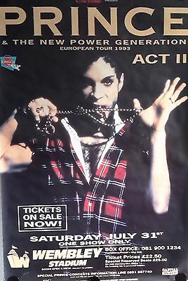 Prince OriginalGiant  Concert Poster 1993 FREE INT.SHIPPING