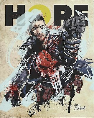 PUNISHER HOPE LIMITED EDITION 8x10 PRINT LITHO HAN SOLOSKI COMIC CON BOX