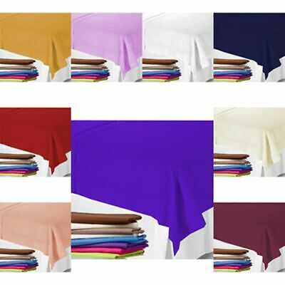 UK NEW- 2 FLAT SHEETS With FREE MATCHING Pillowcase (SET) In Colours And 3 Sizes