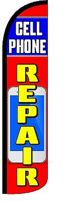 Cell Phone Repair WindlessKing  Size Polyester Swooper Flag Sign Banner