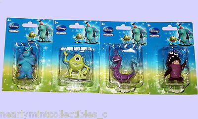 Disney Monsters Inc Pvc Figurines ~ Sully * Boo * Mike * Randal ~ New! Mip!