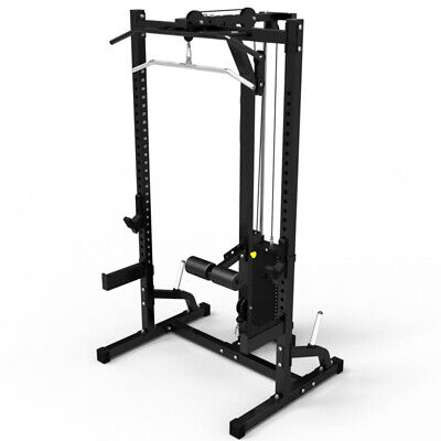 MEGATEC Half Rack System MT-HRS-SW 115kg Weight Stack Power Cage Lat Pulldown