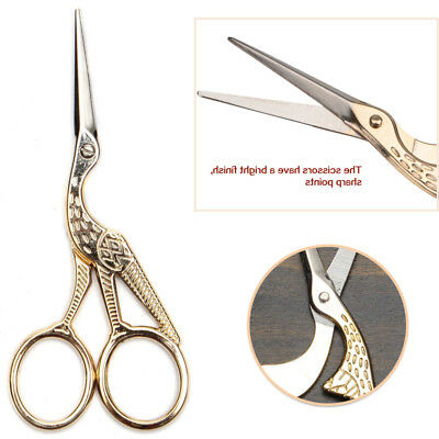 2Sizes Vintage Stork Embroidery Sewing Craft Shears Cross Stitch Scissors Cutter