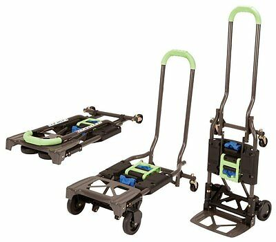 Cosco Shifter Multi-Position Folding Hand Truck and Cart in Black & Green New