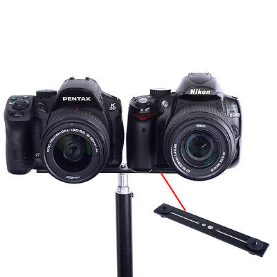 Neewer 20.3cm Dual Camera Mount Bracket for 3D Stereo Stereoscopic Photography