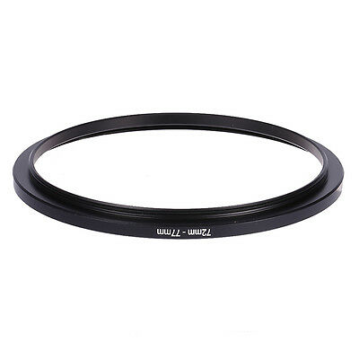 72mm-77mm 72mm To 77mm Step Up Rings Metal Filter Ring Adapter 72-77 Black