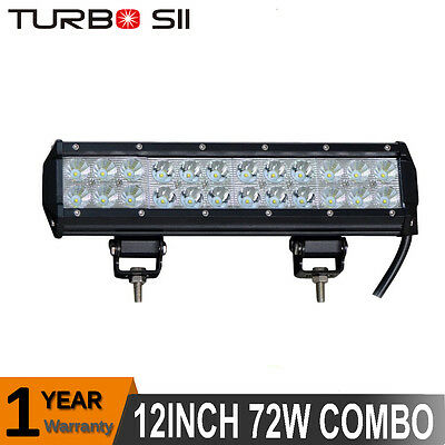 12inch 72W Pods LED Work Light Bar Spot Flood Combo Offroad JEEP SUV TRUCK ATV