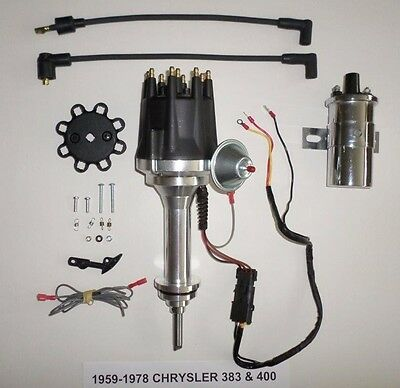 small cap CHRYSLER 383 400 BIG BLOCK PRO SERIES HEI Distributor +Chrome 45K Coil