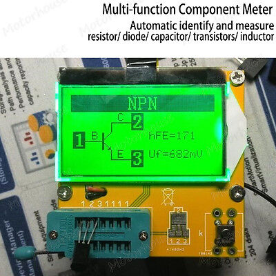 Digital All-in-1 Component Tester Transistor Diode Capacitor Inductor ESR Meter