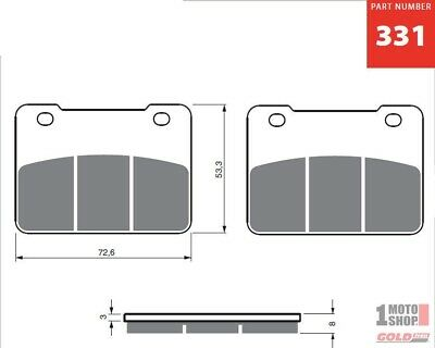 Front Brake Pads 400 X-citing '12- & SYM Maxsym 400-600 '12-  GOLDfren 331AD