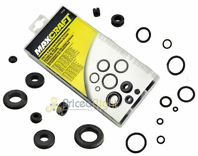 195 Pc O-Ring Rubber Grommet Set Kit Assortment Electrical Wire Firewall Gasket