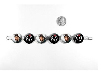 """The Weeknd Echoes of Silence Can't Feel My Face 8"""" Bracelet w/Fold-Over Clasp"""